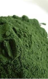 algas espirulinas desecadas, alimento rico en carbohidratos y potasio