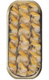 almejas y berberechos en conserva, alimento rico en fósforo y hierro