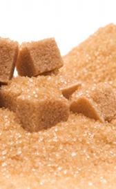 minerales del azúcar moreno