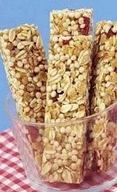 calorías de las barritas de cereales con melocotón y albaricoque
