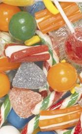 caramelos, alimento preteneciente a la categoría de los golosinas
