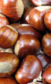castañas, alimento rico en vitamina C y fibra