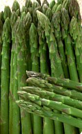 espárragos verdes, alimento preteneciente a la categoría de los verduras frescas