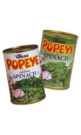 espinacas en conserva, alimento rico en vitamina C y vitamina E