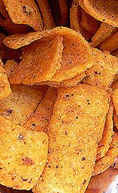 fritos de maíz, alimento rico en potasio