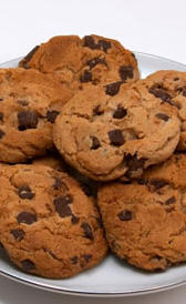 galletas cookie, alimento rico en sodio y carbohidratos