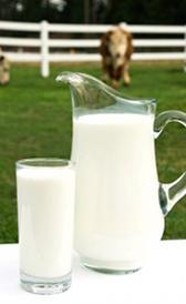 leche entera de vaca, alimento rico en vitamina B7 y calcio