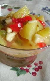 Macedonia de frutas en almibar