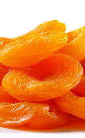melocotón seco, alimento rico en calorías y fibra