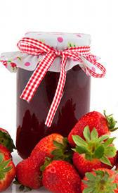 mermelada de fresa, alimento rico en calorías y vitamina B9