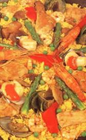 paella de marisco congelada, alimento rico en sodio y vitamina B12