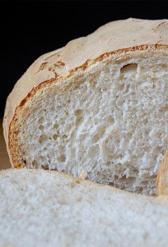 pan blanco sin sal, alimento rico en calorías y fibra