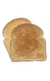 pan blanco tostado, alimento rico en vitamina B2 y calcio