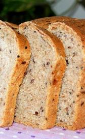 pan de molde integral, alimento rico en vitamina B9 y zinc