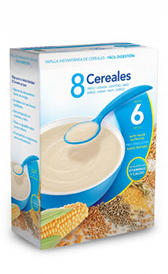 papilla de cereales con leche , alimento rico en vitamina B2 y potasio