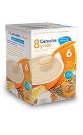 Papilla de cereales y miel con leche polvo