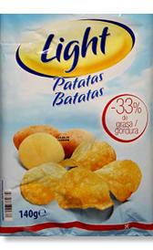 patatas fritas de bolsa bajas en calorías, alimento rico en vitamina B9 y fibra