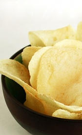 patatas fritas de bolsa, alimento rico en fibra y vitamina B3