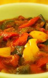 Pisto de verduras congelado