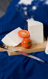 queso de cabra tierno, alimento rico en vitamina B9 y vitamina B5