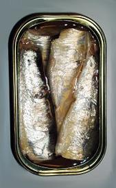 sardinas en aceite, alimento rico en vitamina B2 y vitamina B7
