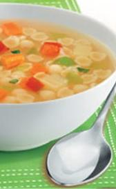 sopa jardinera para reconstituir, alimento preteneciente a la categoría de los platos preparados