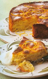 vitaminas de la tarta de manzana y nata