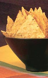 triangulos maíz, alimento rico en colesterol