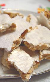turrón de alicante, alimento rico en calorías