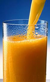 Zumo de naranja envasado o jugo de naranja envasado